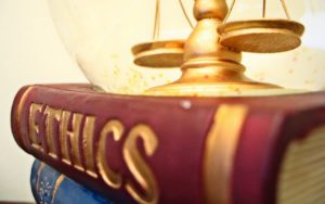 ethics books and scale