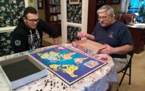 two men playing risk