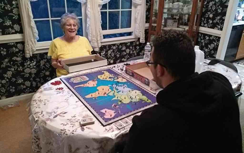 woman and man playing risk
