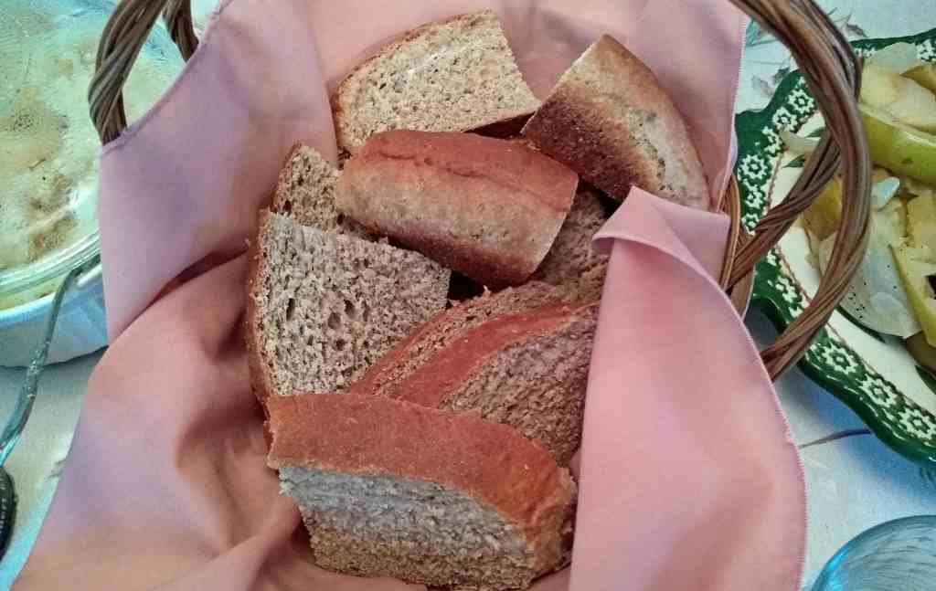 wheat bread in basket