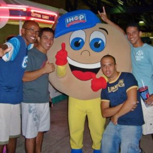 brazilian sailors with IHOP mascot
