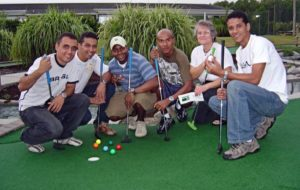brazilian sailors mini golfing