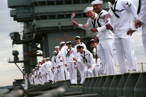 sailors on military ship